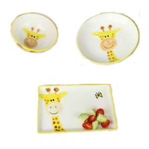 Pampa Bay KID-001 3 peice Giraffe Dinner set