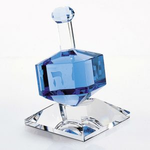 Badash Crystal Blue Crystal Dreidel On Stand -H141