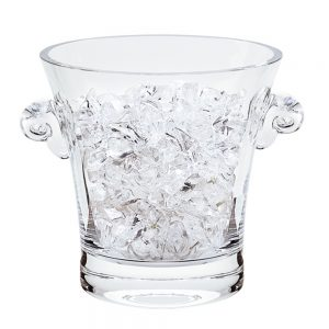 Badash Crystal Chelsea Mouth Blown Thick Sham Lead Free Crystal Ice Bucket 6.5 x 6 inches - NY740