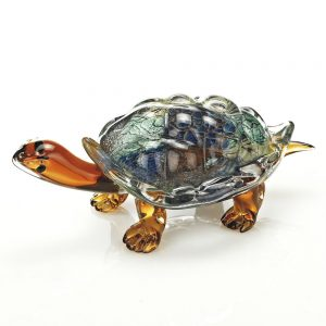 Badash Crystal Firestorm Art Glass Turtle - J570