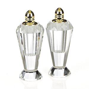 "Badash Crystal <a href=""Badash Crystal Handmade Lead Free Crystal Pair Salt & Pepper Set - Preston - 4 inch with Gold Tops"">Handmade Lead Free Crystal Pair Salt & Pepper Set - Preston - 4 inch with Gold Tops</a>"