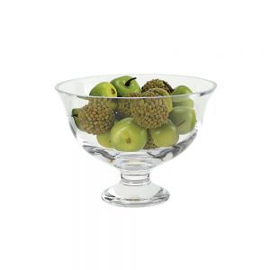 Badash Crystal Monica European Mouth Blown Medium Pedestal or Revere Lead Free Crystal Fruit Bowl - SR709