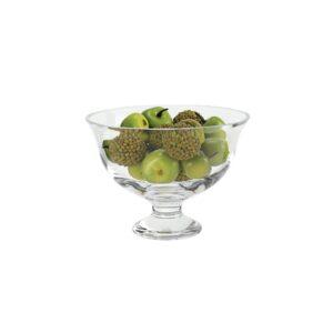 Badash Crystal Monica European Mouth Blown Medium Pedestal or Small Lead Free Crystal Fruit Bowl - SR703