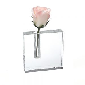 Badash Crystal The Block Handcrafted Crystal Bud Vase 5x5 inches - H215