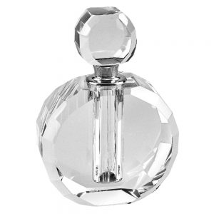 Badash Crystal Zoe Handcrafted Round Crystal Perfume Bottle YD365