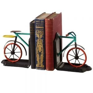 CBK Inspired Home Colorful Bicycle Bookend 1 Pair - 124229