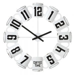 CBK Inspired Home Enamel Coffee Cup Wall Clock - 158426