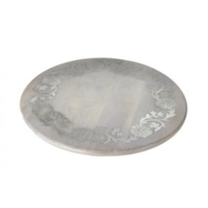 CBK Inspired Home Greywash Floral Inlay Lazy Susan - 168074