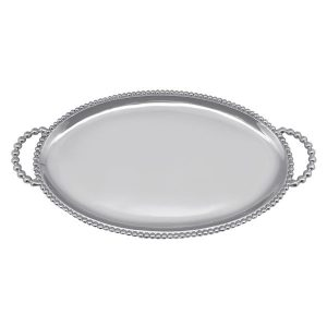 Mariposa Beaded Oval Handle Tray