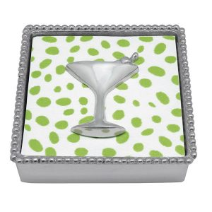 Mariposa Cocktail Beaded Napkin Box