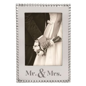 Mariposa Mr and Mrs 5x7 Vertical Beaded Frame