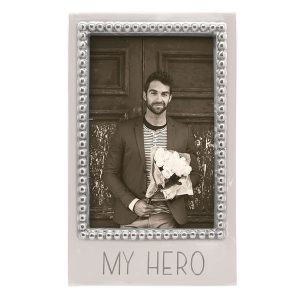 Mariposa My Hero Beaded 4x6 Vertical Frame