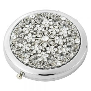 Olivia Riegel Silver Crystal Sinclair Compact - CM1925