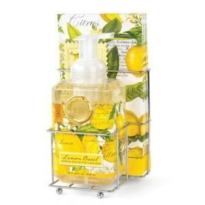 Michel Design Works Lemon Basil Foaming Hand Soap Napkin Set DSP8
