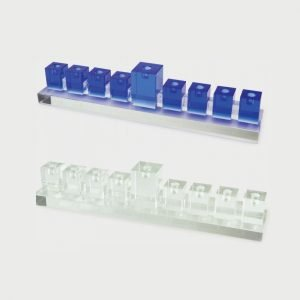 Tizo Design Crystal Glass Menorah PHMEN-BC