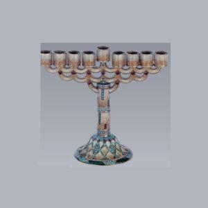 Tizo Design Jeweltone Medium Menorah RS336CS