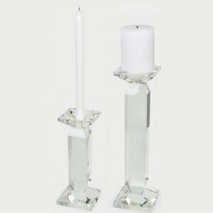 "Tizo Design <a href=""https://lifestylesgiftware.com/product/tizo-design-pillar-crystal-glass-candle-holders/"">Pillar Crystal Glass Candle Holders</a>"