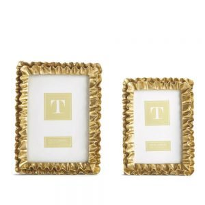 Twos Company Gold Ruffles Frames - 52265