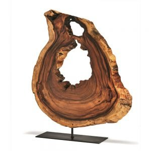 Twos Company Acacia Wood Slice on Stand-STH001-ASST