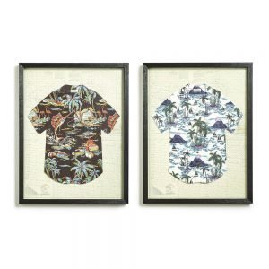 Twos Company Aloha Paper Collage Wall Art Incl 2 Designs-52683