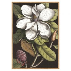 Twos Company Blooming White Magnolia 46 inch x 64 inch Wall Art-GHH006