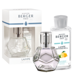 Maison Berger Verbena Lampe Gift Set with lampe oil and geometric shaped lampe