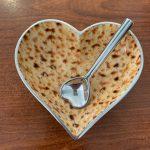 Matzo heart bowl with spoon