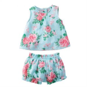 Rose Pinafore and Bloomer Set