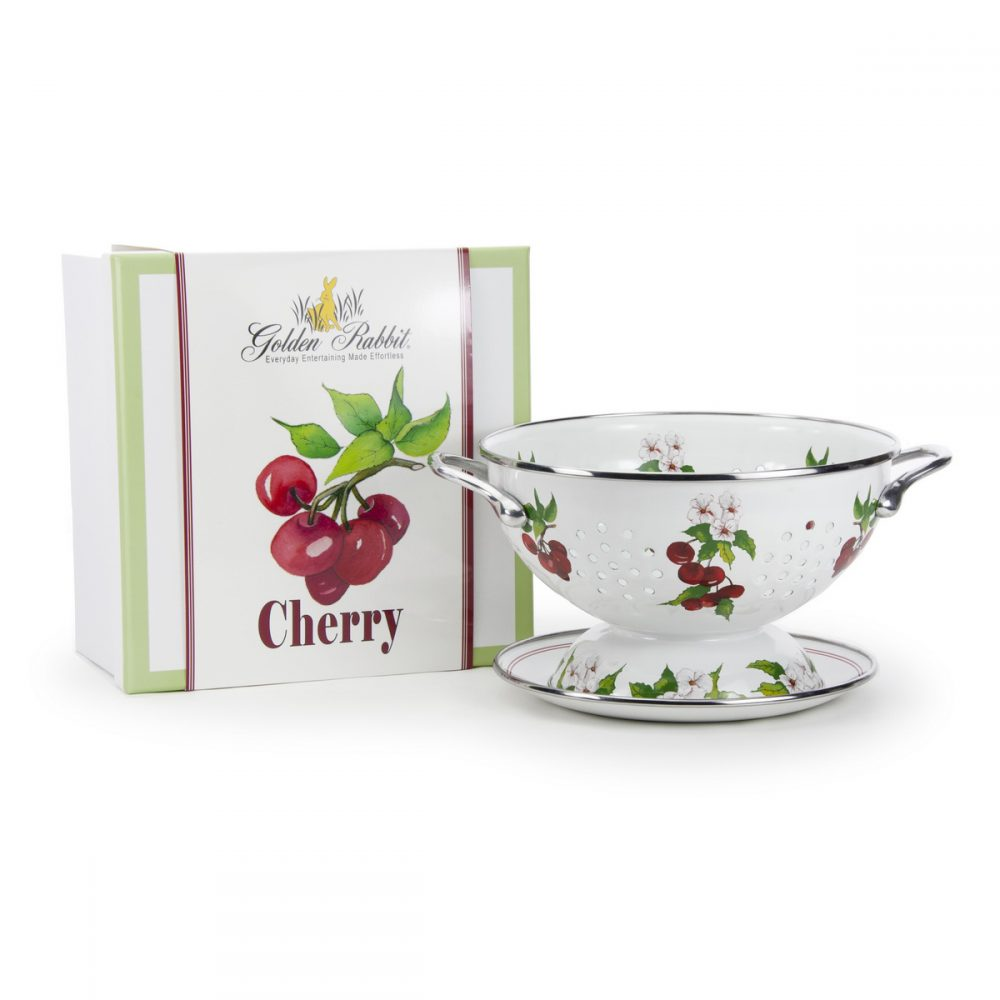 cherry colander gift set golden rabbit