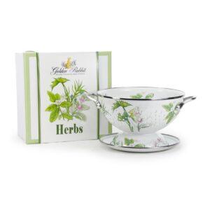 herb colander gift set golden rabbit