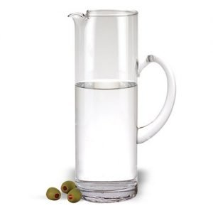 suggested product is a tall, slender, crystal pitcher