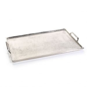 "Zodax <a href=""https://lifestylesgiftware.com/product/zodax-barbuda-aluminum-tray-with-handles-large/"">Barbuda Aluminum Tray with Handles-Large</a>"