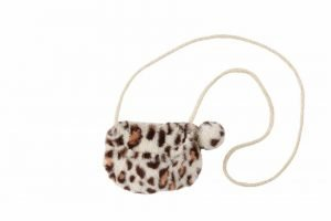 Tan Leopard Faux Fur Purse