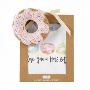 Mud Pie Donut Rattle Crawler Set