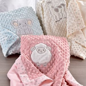 Giftcraft Pink/Lil Lamb Double Sided Blanket