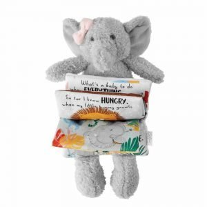 Mud Pie Pink Elephant Plush Book