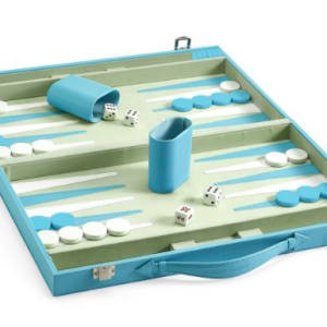 blue backgammon set