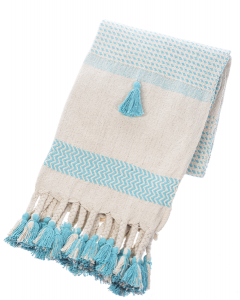 turquoise woven throw