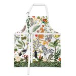 Apron with jungle animals and lemons