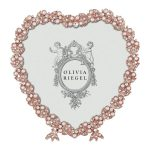 Rose gold heart frame with pearls and crystals