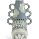Blue 3 Handled Vase