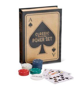 Poker set that looks like a book
