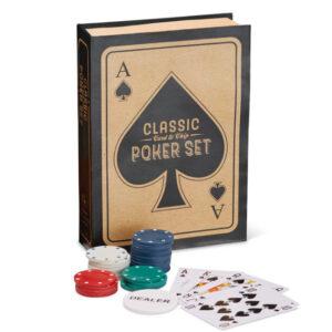 Poker set that looks like a book