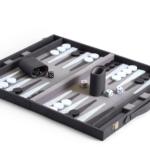 black, white and gray backgammon set