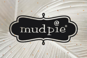 Mud Pie Logo on a cream colored background