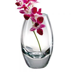 tall rounded Crystal Vase